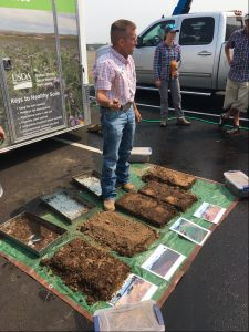 District and NRCS Coordinate Soil Demo at Hazelnut Growers Society Summer Tour/Trade Show